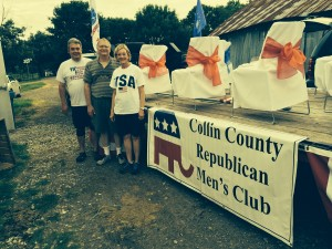 July 3, 2015- With Collin County Republican Men's Club helping decorate their float for the Plano 4th of July Parade.